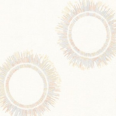 Winter Shimmer, Snow Circles, per half-yard (with Metallic Accents)