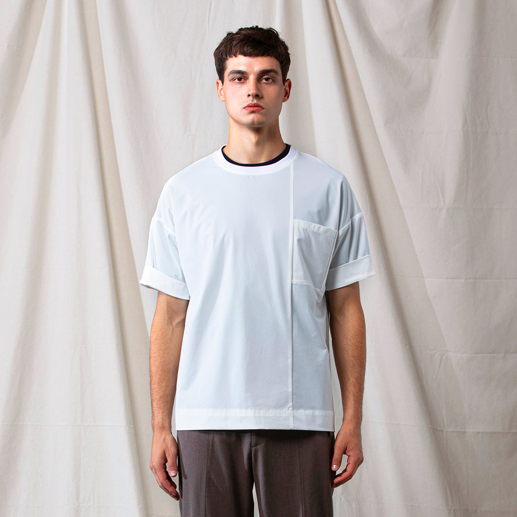 Seersucker Round Neck T-shirt