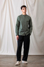 Load image into Gallery viewer, Grandad-Collar Cotton Shirt