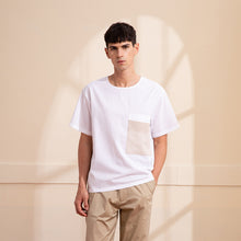 Load image into Gallery viewer, Collarless Round-Neck T-Shirt