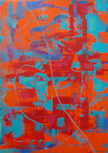 Load image into Gallery viewer, 'After the Dry' abstract acrylic painting by Di Skelly Heron