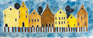 Blue Crooked Houses  - Luba Nikandrova
