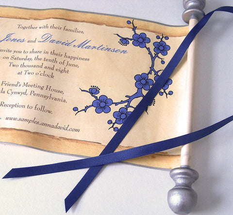 Paper scroll invitations