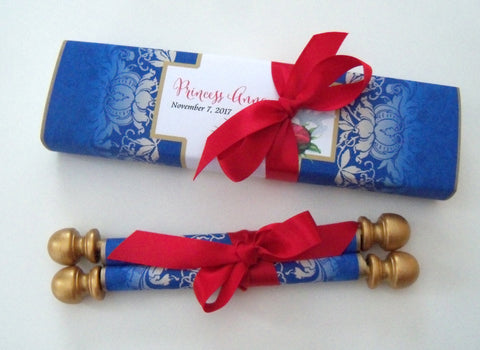 Boxed scroll invitations