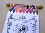 Sweet sixteen masquerade party invitation scrolls, set of 5 scrolls