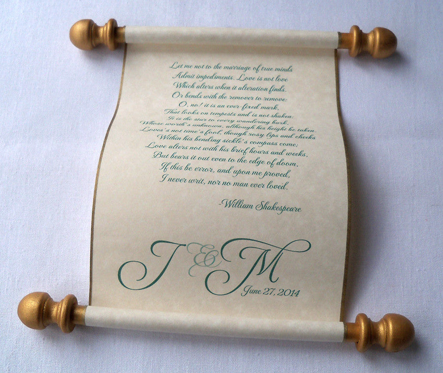 Wedding vows personalized individual scroll with presentation box wedding vows personalized individual scroll with presentation box junglespirit Choice Image