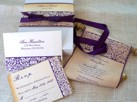 fairytale and medieval wedding invitations – artful beginnings, Wedding invitations