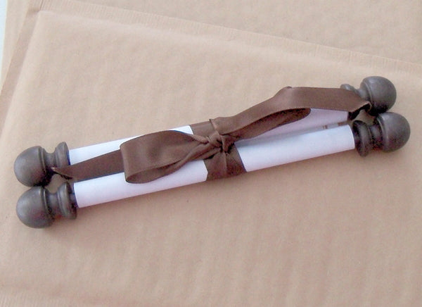Paper wedding invitation scroll sample, any existing design
