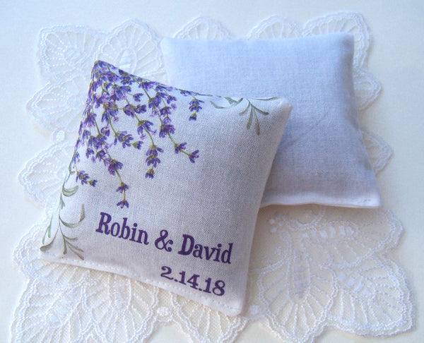 Lavender sachets for bridal shower, custom wording