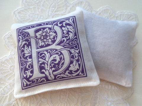 Lavender sachets for bridal shower, set of 25, individual monograms