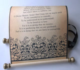 Prayer of Saint Francis, Christmas Prayer scroll on paper, farmhouse decoration