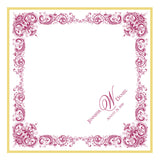 Wedding handkerchief with antique flowers border