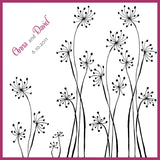 Dandelions personalized wedding handkerchief