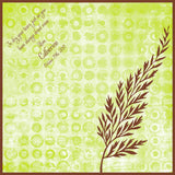 Fern and polka dots wedding handkerchief