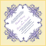 Flower garland invitation handkerchief