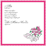 Rose bouquet flower girl wedding handkerchief by Artful Beginnings