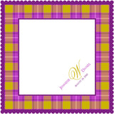 Personalized handkerchief with plaid border and monogram
