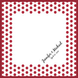 Polka dots personalized wedding handkerchief