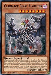 Gladiator Beast Augustus [2015 Mega-Tins Mega Pack] [MP15-EN020] - Card Brawlers | Card Brawlers