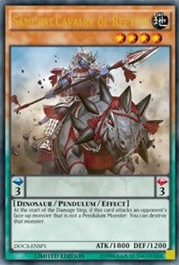 Samurai Cavalry of Reptier (ENSP1) [Dimension of Chaos] [DOCS-ENSP1] - Card Brawlers | Card Brawlers
