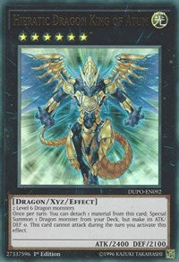 Hieratic Dragon King of Atum [Duel Power] [DUPO-EN092] - Card Brawlers | Card Brawlers