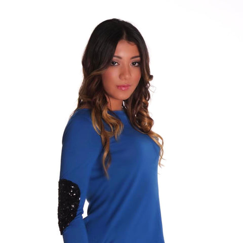 Material Girl Top - Blue