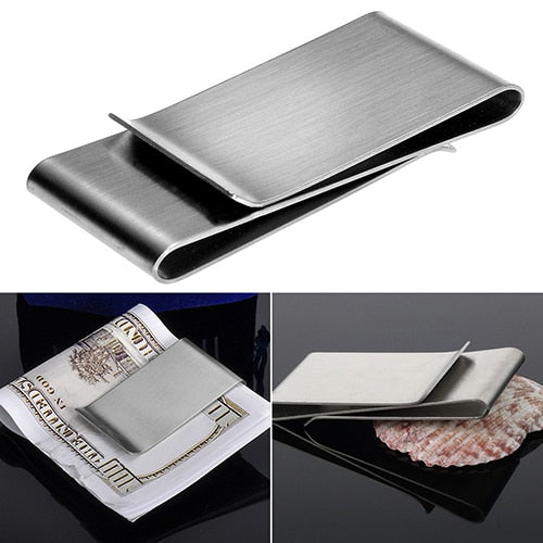 Stainless Steel Silver Money Clip