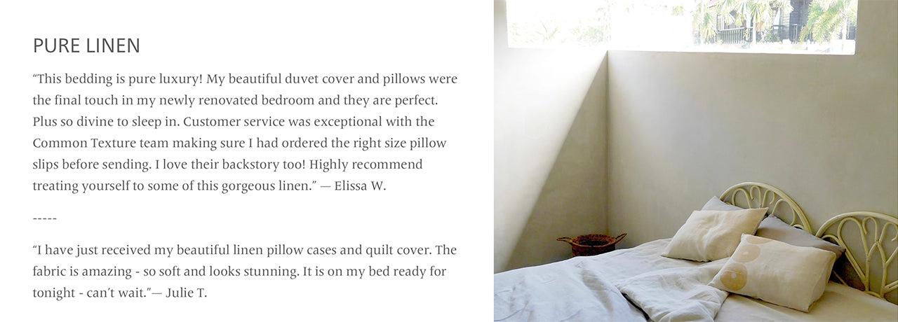Common Texture review pure linen bedding, duvet covers, pillowcases