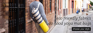 Common Texture Eco Friendly fabrics Do Good Yoga Mat Bag | yoga mat bag handcrafted with upcycled cotton