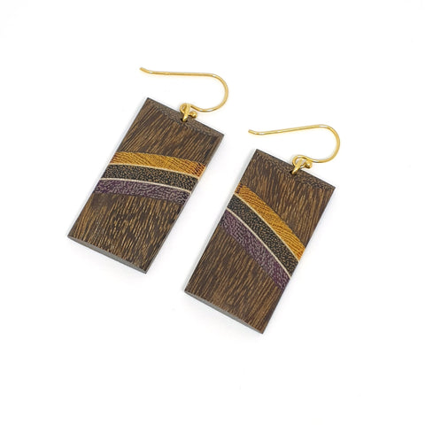 Common Texture Amazonia Andressa Dangle Wood Earrings