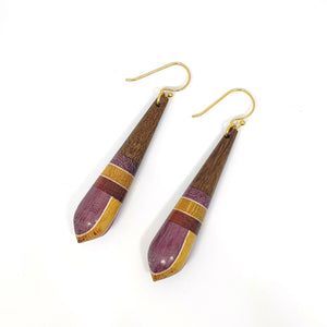 Common Texture Amazonia Daiane Dangle Wood Earrings