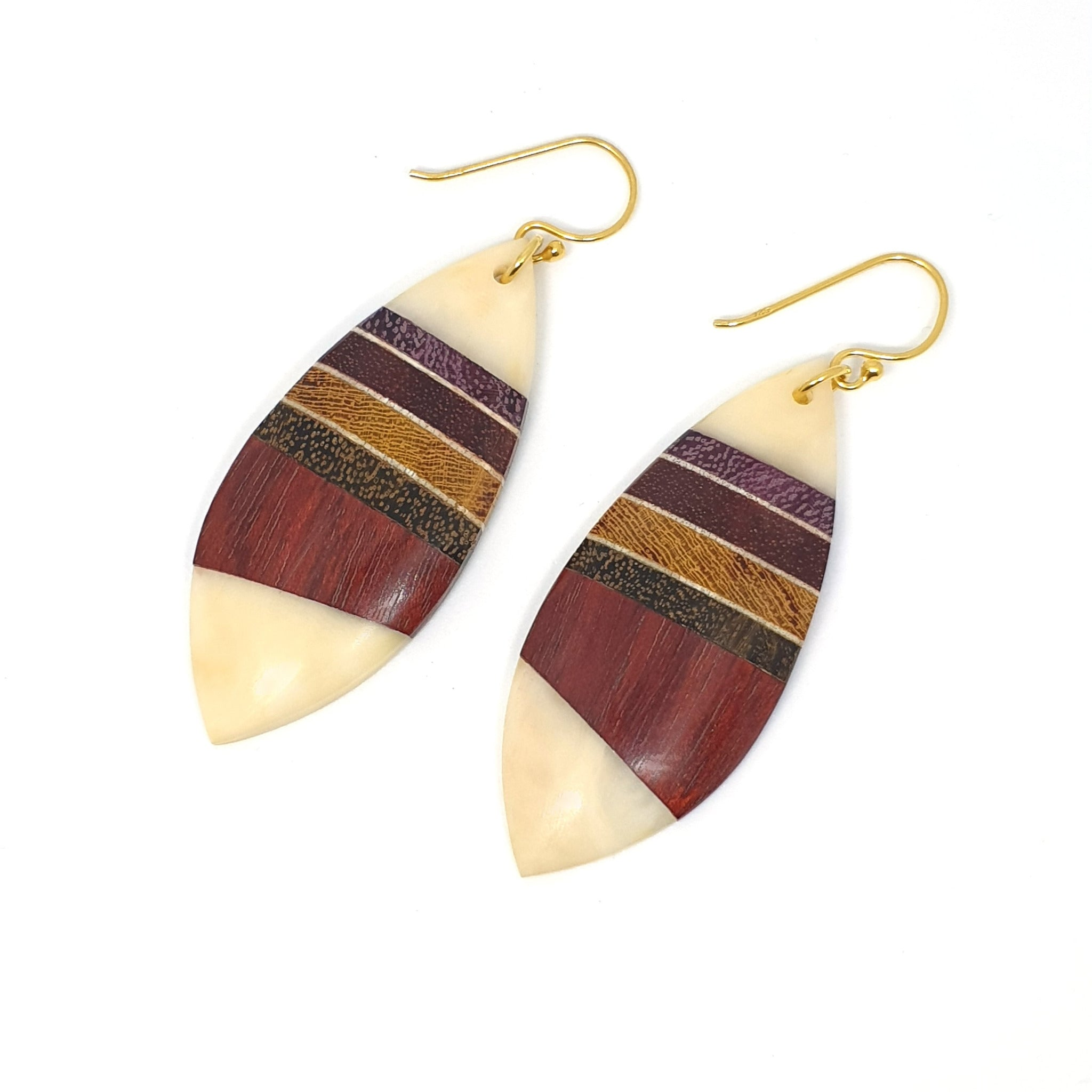 Common Texture Amazonia Efigenia Wood Dangle Earrings