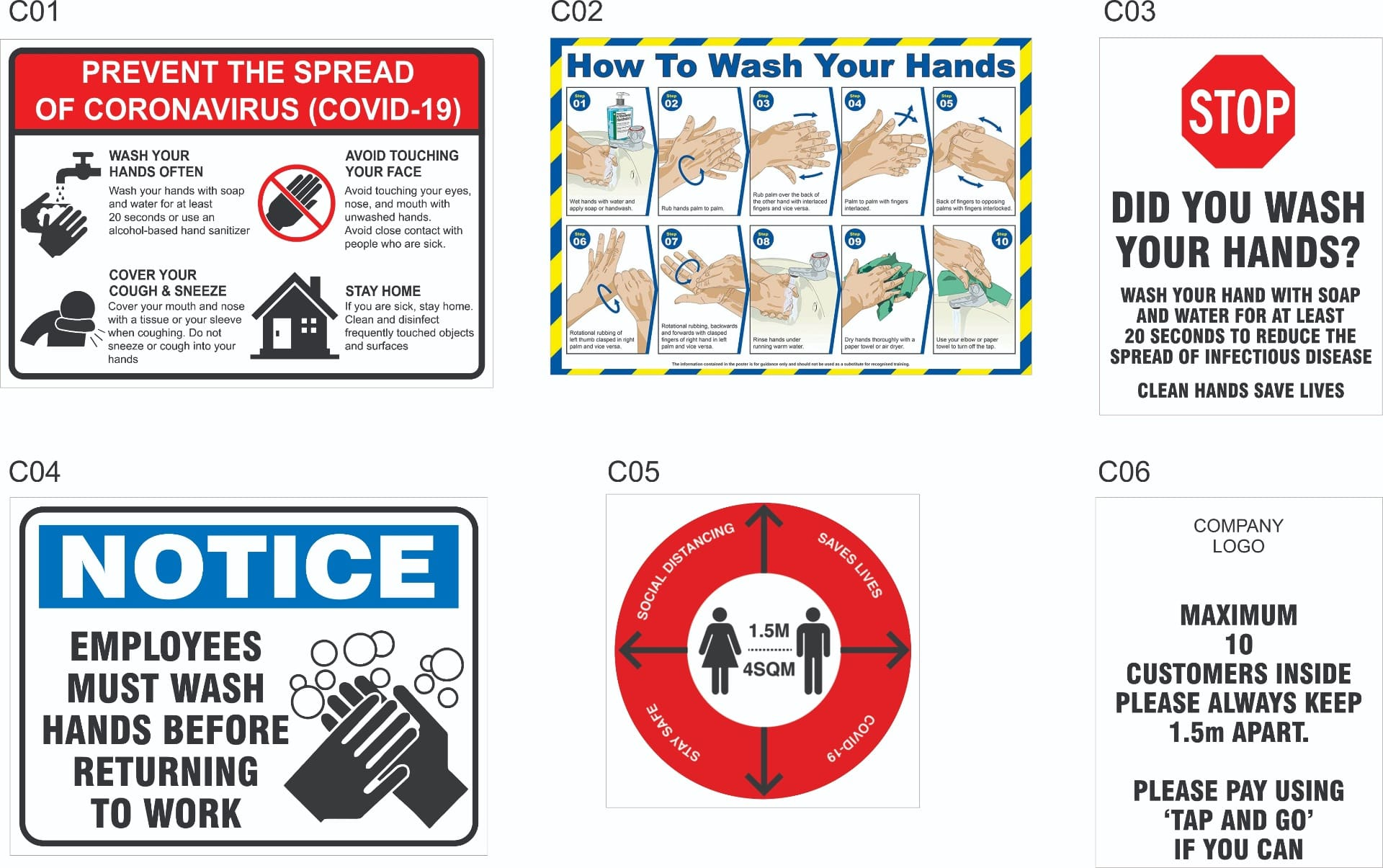 COVID-19 Safety Signs | Signs of Safety