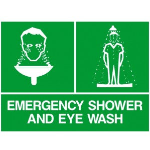 EM45 Signs of safety Emergency Shower and Eye wash signs
