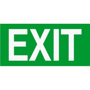 EM48 Signs of safety Exit sign