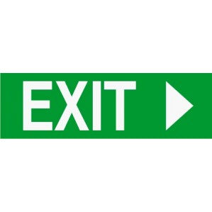 EM49 Signs of safety Exit sign