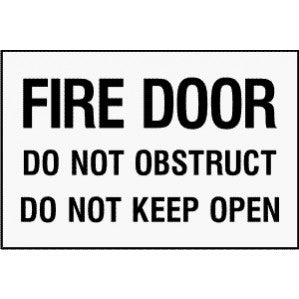 EM68 Signs of Safety Fire Door Do Not Obstruct Do Not Keep Open signs