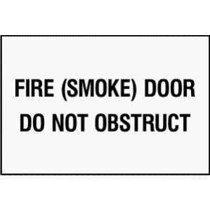 EM69 Signs of Safety Fire Door Do Not Obstruction signs