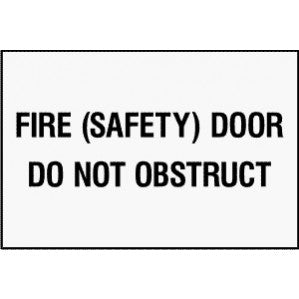 EM70 Signs of Safety Fire Door Do Not Obstruct signs