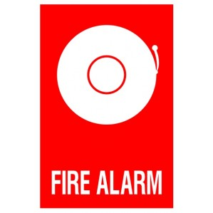 EM87 Signs of Safety Fire Alarm with picture signs