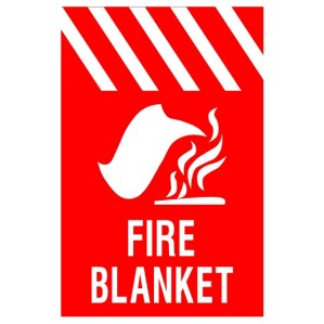 EM88 Signs of Safety Fire Blanket with picture signs