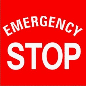 EM91 Signs of Safety Emergency Stop signs