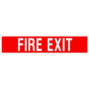 Fire Exit Signs of Safety F618