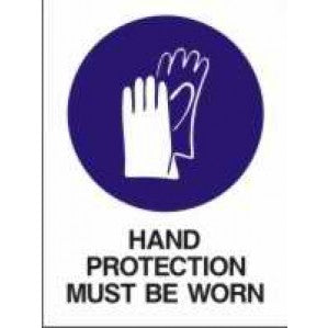 MA04 Signs of Safety Mandatory Hand Protection Must Be Worn sign