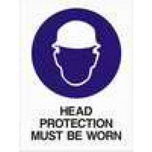 MA08 Signs of Safety Mandatory Head Protection must Be Worn sign