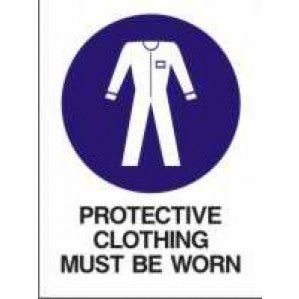 MA11 Signs of Safety Mandatory Protective Clothing Must Be Worn sign