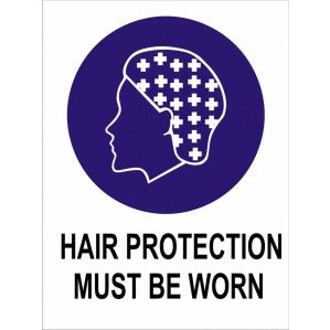 MA13 Signs of Safety Mandatory Hair Protection Must Be Worn sign
