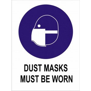 MA19 Signs of Safety Mandatory Dusk Masks Must Be Worn sign