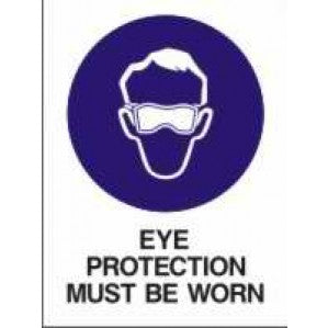 MA227 Signs of Safety Mandatory Eye Protection Must Be Worn on this site sign