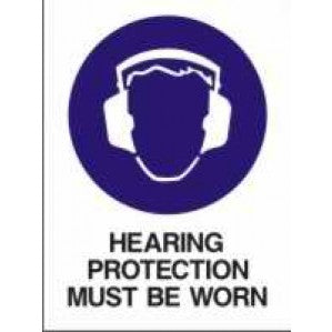 MA228 Signs of Safety Mandatory Hearing Protection Must Be Worn on this site sign